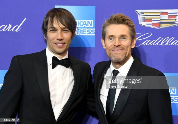 Sean Baker and Willem Dafoe attend the 29th Annual Palm Springs International Film Festival Awards Gala at Palm Springs Convention Center on January...