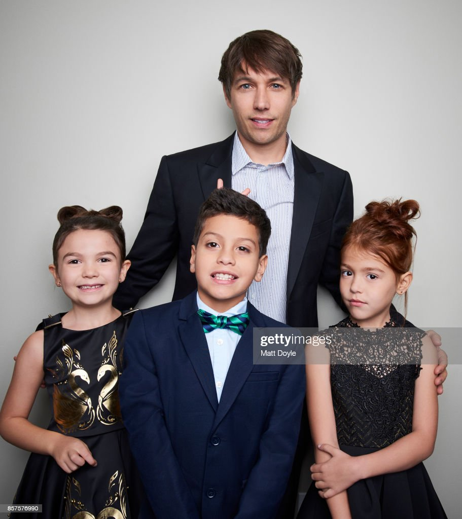 Sean Baker, Bria Vinaite, Brooklynn Prince, and Christopher Rivera attend of 'The Florida Project' pose for a portrait at the 55th New York Film Festival on October 1, 2017.