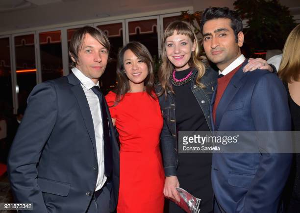 Sean Baker wearing Hugo Boss Samantha Kwan Emily V Gordon and Kumail Nanjiani attend Esquire's 'Mavericks of Hollywood' Celebration presented by Hugo...