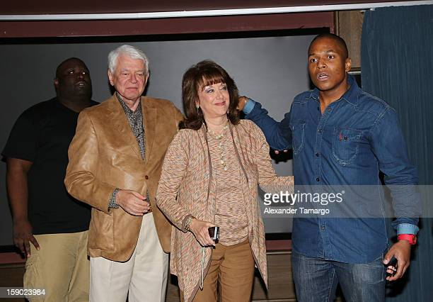 Sean Banks Malcolm Berman Sandra Berman and Sheldon Candis attend the special Miami Tastemaker Dinner and Screening of Common's new movie LUV...