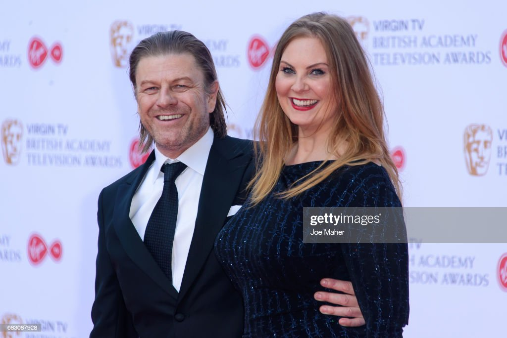 Sean Bean and Ashley Moore attend the Virgin TV BAFTA Television Awards at The Royal Festival Hall on May 14, 2017 in London, England.