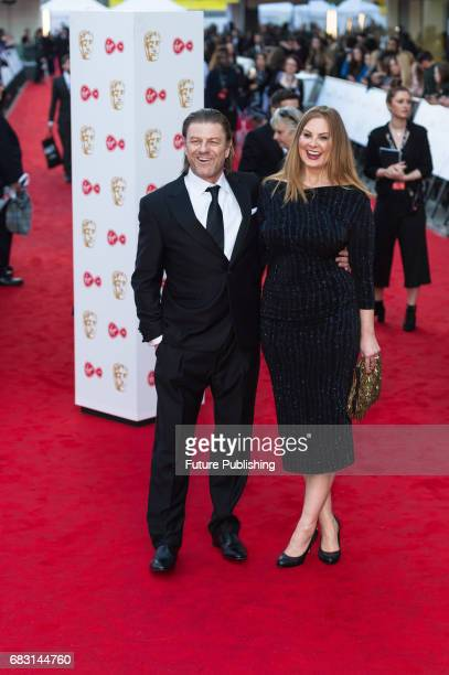 Sean Bean and Ashley Moore attend the Virgin TV British Academy Television Awards ceremony at the Royal Festival Hall on May 14 2017 in London United...