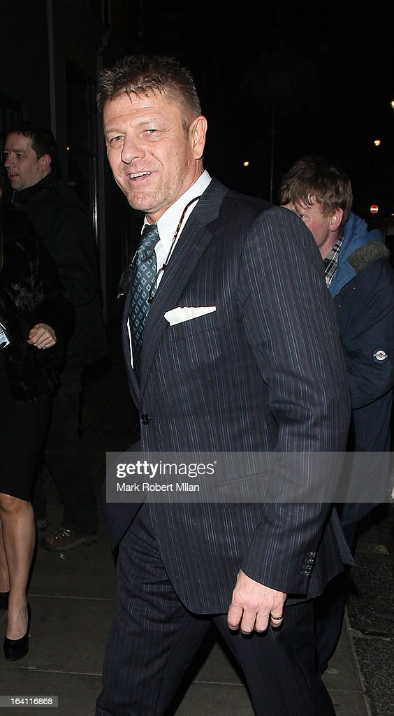 Sean Bean at the Groucho club on March 19, 2013 in London, England.