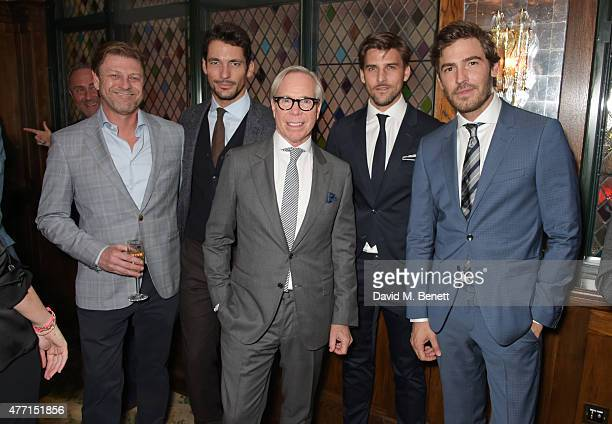 Sean Bean David Gandy Tommy Hilfiger Johannes Huebl and Robert Konjic attend the Tommy Hilfiger dinner celebrating London Collections Men SS16 at The...