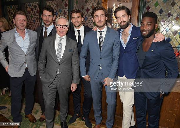 Sean Bean David Gandy Tommy Hilfiger Johannes Huebl Robert Konjic Jack Guinness and Tinie Tempah attend the Tommy Hilfiger dinner celebrating London...