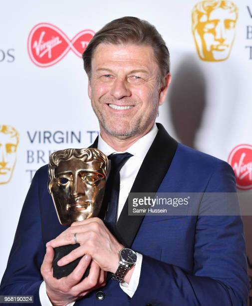 Sean Bean in the press room during the Virgin TV British Academy Television Awards at The Royal Festival Hall on May 13 2018 in London England