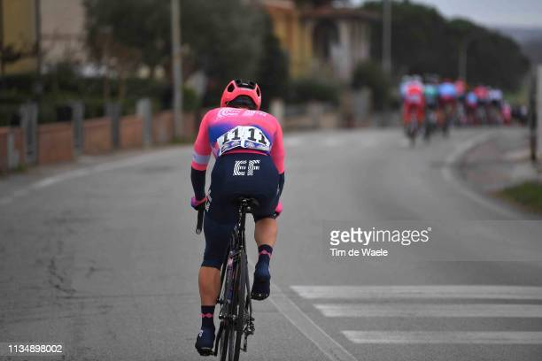 Sean Bennett of The United States and Team EF Education First / Drop from Peloton / during the 42nd GP Industria e Artigianato 2019 a 199,2km race...