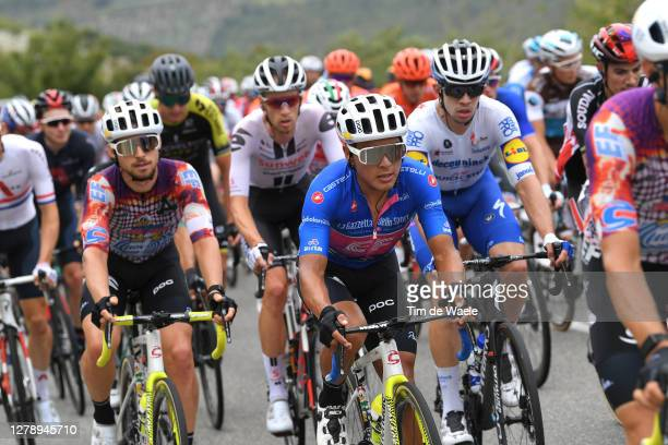 Sean Bennett of The United States and Team EF Pro Cycling / Jonathan Caicedo Cepeda of Ecuador and Team EF Pro Cycling Blue Mountain Jersey / Peloton...