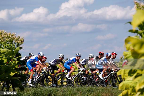 Sean Bennett of The United States and Team Qhubeka Nexthash & Jake Stewart of The United Kingdom and Team Groupama FDJ during the 78th Tour de...