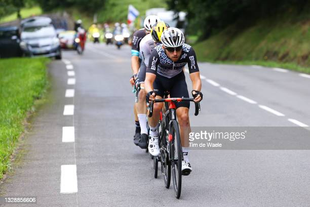 Sean Bennett of The United States and Team Qhubeka NextHash leads The Breakaway during the 108th Tour de France 2021, Stage 18 a 129,7km stage from...