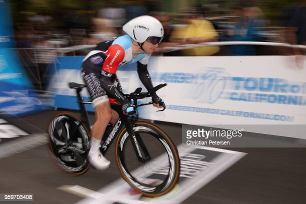 Sean Bennett of the United States riding for Team Hagens Berman Axeon rides from the start during stage four of the 13th Amgen Tour of California...