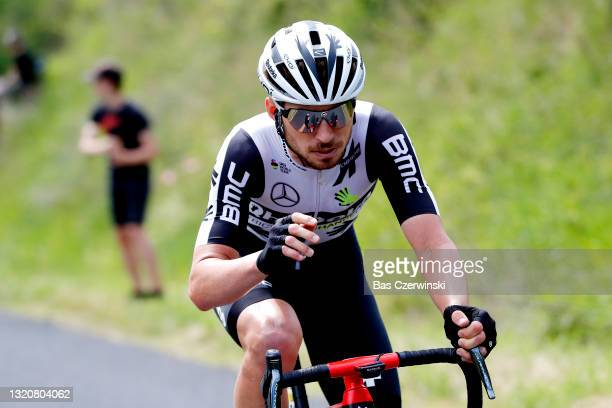 Sean Bennett of United States and Team Qhubeka Assos attack on breakaway during the 73rd Critérium du Dauphiné 2021, Stage 1 a 181,8km stage from...