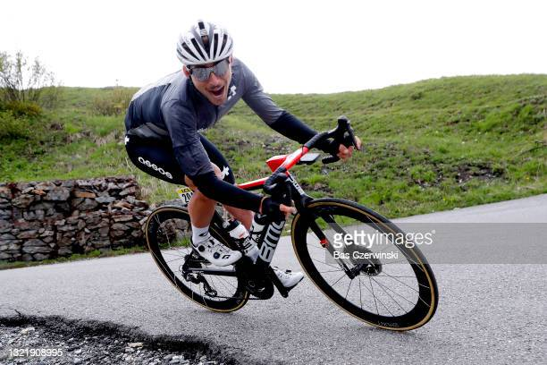 Sean Bennett of United States and Team Qhubeka Assos during the 73rd Critérium du Dauphiné 2021, Stage 7 a 171,5km stage from Saint-Martin-Le-Vinoux...
