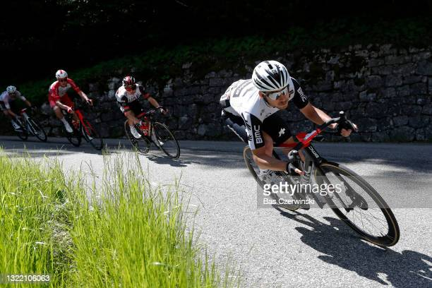 Sean Bennett of United States and Team Qhubeka Assos during the 73rd Critérium du Dauphiné 2021, Stage 8 a 147km stage from La Léchère-Les-Bains to...