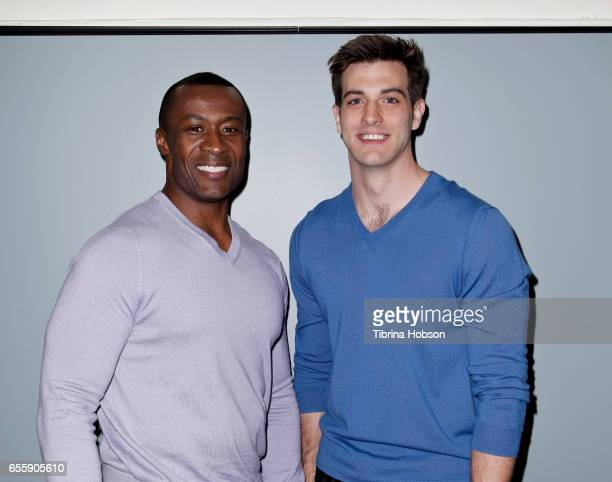 Sean Blakemore and Jake Allyn attend SAGAFTRA Foundation's Conversations with 'The Quad' at SAGAFTRA Foundation Screening Room on March 20 2017 in...