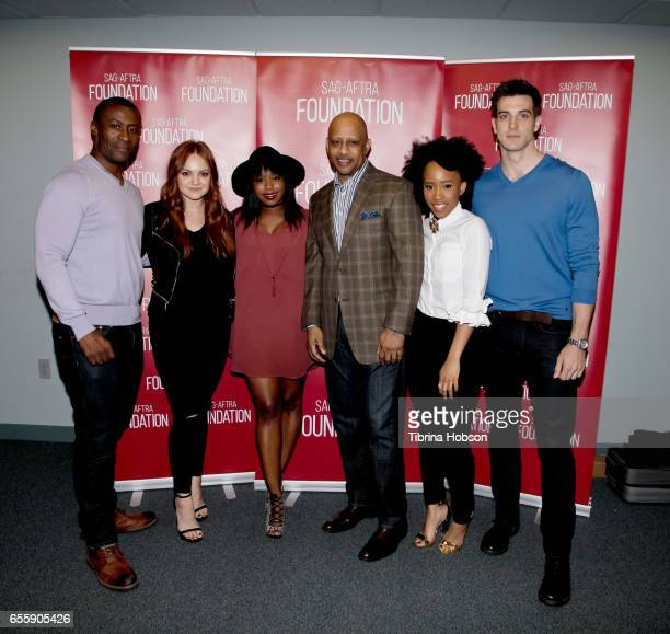 Sean Blakemore Michelle DeFraites Jazz Raycole Ruben SantiagoHudson Zoe Renee and Jake Allyn attends SAGAFTRA Foundation's Conversations with 'The...