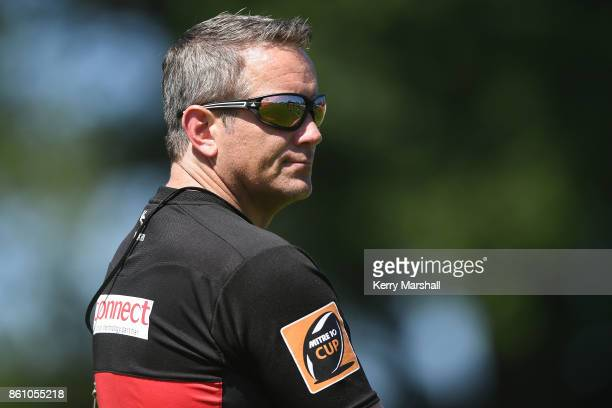 Sean Botherway Waikato head coach before the round nine Mitre 10 Cup match between Bay of Plenty and Waikato at Tauranga Domain on October 14 2017 in...