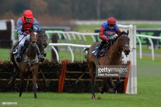 Sean Bowen riding Act Of Valour leads the way from Tom Scudamore riding Look My Way ahead of winning the Jigsaw Sports Branding Introductory Juvenile...