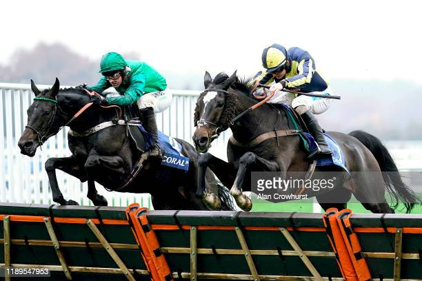 Sean Bowen riding If The Cap Fits clear the last to win The Coral Hurdle at Ascot Racecourse on November 23, 2019 in Ascot, England.