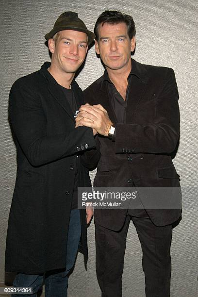Sean Brosnan and Pierce Brosnan attend THE CINEMA SOCIETY AfterParty for SERAPHIM FALLS at Soho Grand Penthouse on January 23 2007 in New York City