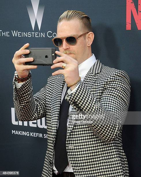 Sean Brosnan arrives at the premiere of The Weinstein Company's No Escape at Regal Cinemas LA Live on August 17 2015 in Los Angeles California
