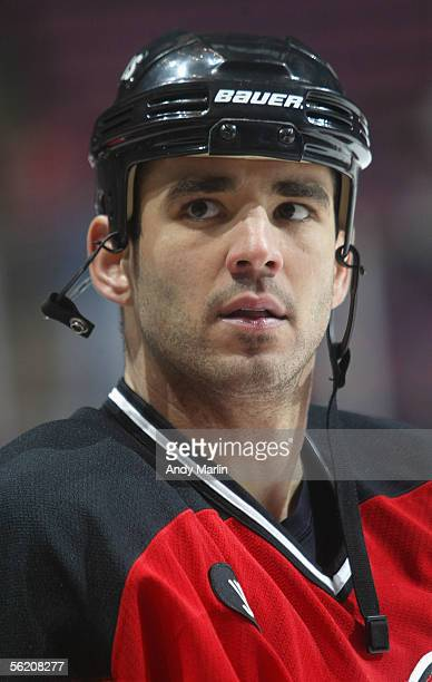 Sean Brown of the New Jersey Devils in action against the New York Islanders during the NHL game at the Continental Airlines Arena on November 8 2005...