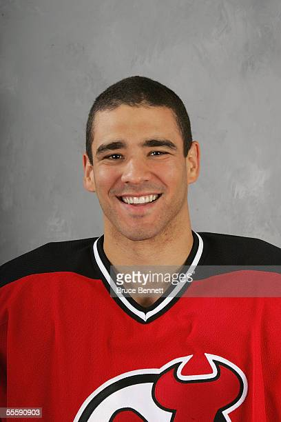 Sean Brown of the New Jersey Devils poses for a portrait at South Mountain Arena on September 13 2005 in West Orange New Jersey