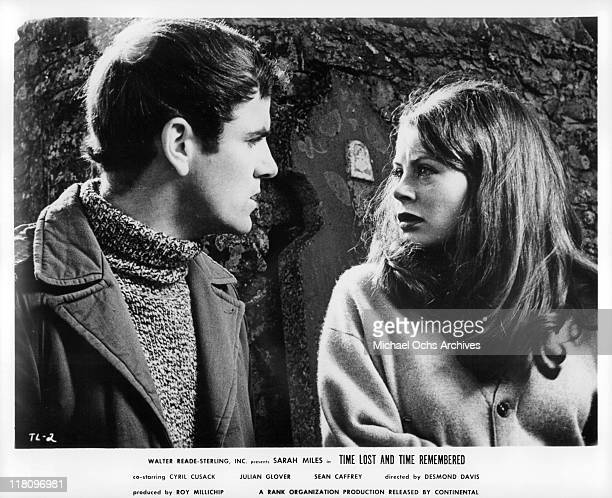Sean Caffrey has a stormy meeting with Sarah Miles in a scene from the film 'Time Lost and Time Remembered' 1966