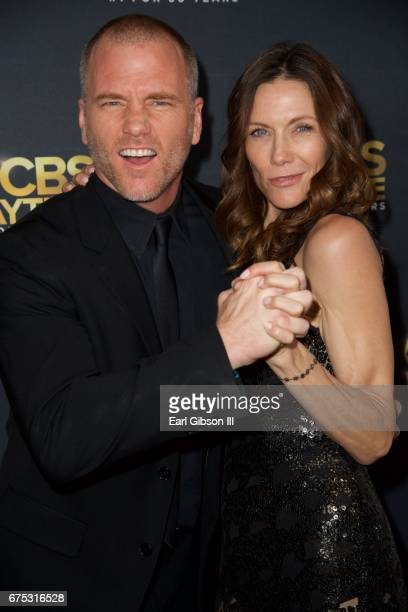 Sean Carrigan and Stacy Haiduk attend the CBS Daytime Emmy After Party at Pasadena Civic Auditorium on April 30 2017 in Pasadena California