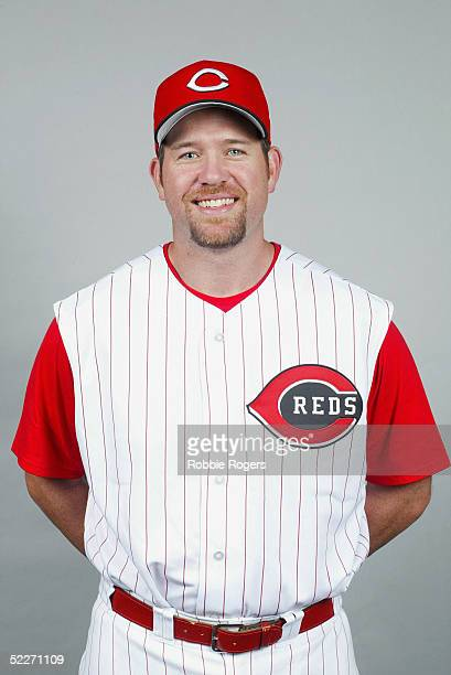 Sean Casey of the Cincinnati Reds poses for a portrait during photo day at Ed Smith Stadium on February 24 2005 in Sarasota Florida