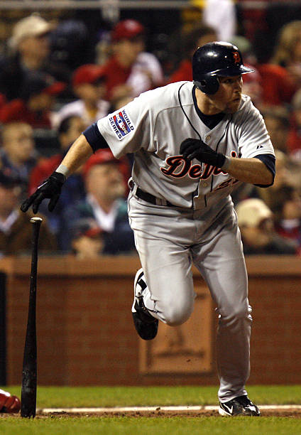Sean Casey Of The Detroit Tigers Hits A Home Run During Game 4 2006