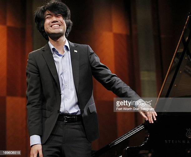 Sean Chen of the United States performs at Bass Hall during the 14th Van Cliburn International Piano Competition in Fort Worth Texas on Sunday May 26...