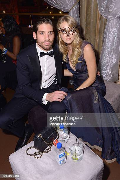 Sean Clayton and Model Lindsay Ellingson attends the 4th Annual UNICEF Masquerade Ball at Angel Orensanz Foundation on October 30 2013 in New York...