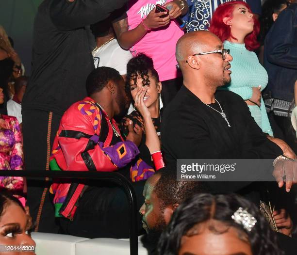 Sean Comb and Christina Mackey attend the Million Dollar Bowl at The Dome Miami on February 3 2020 in Miami Florida