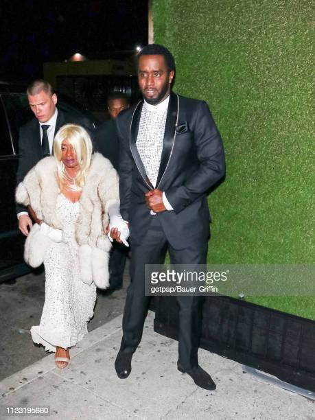 Sean Combs aka 'P Diddy' and Janice Combs are seen on March 26 2019 in Los Angeles California