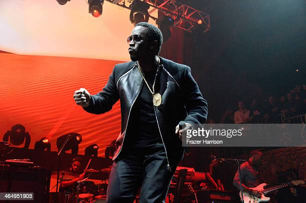Sean Combs aka P Diddy performs onstage at the Beats Music Launch Party at Belasco Theatre on January 25 2014 in Los Angeles California