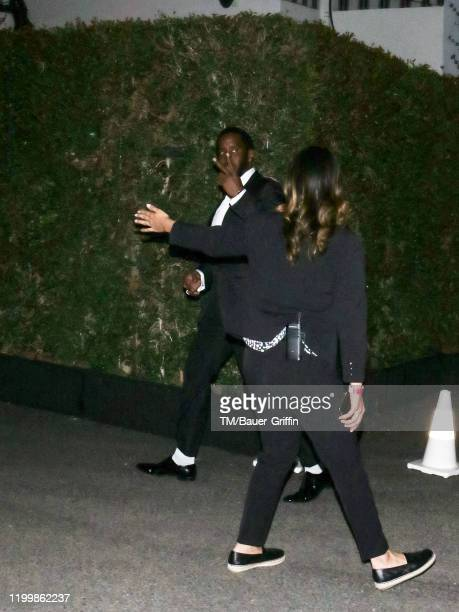 Sean Combs aka 'Puff Daddy' is seen on February 10 2020 in Los Angeles California