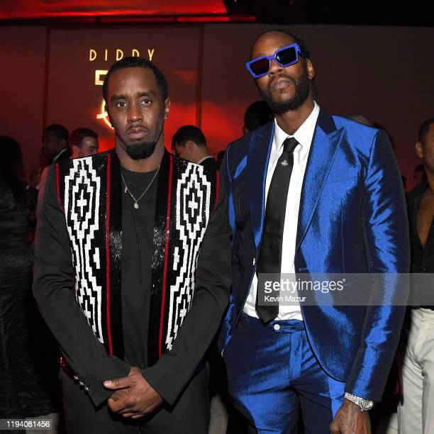 Sean Combs and 2 Chainz attend Sean Combs 50th Birthday Bash presented by Ciroc Vodka on December 14 2019 in Los Angeles California