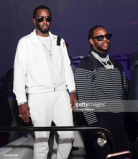 Sean Combs and 2 Chainz attend The Big Game Weekend at The Dome Miami on February 1 2020 in Miami Florida