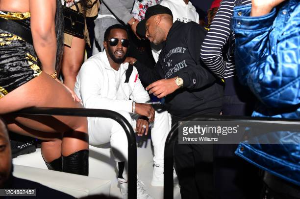 Sean Combs and Alex Gidewon attend The Big Game Weekend at The Dome Miami on February 1 2020 in Miami Florida