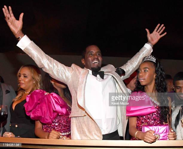 Sean Combs and and D'Lila Star Combs attend Sean Combs 50th Birthday Bash presented by Ciroc Vodka on December 14, 2019 in Los Angeles, California.
