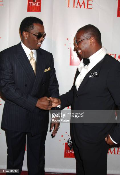 Sean Combs and Andre Harrell during Time Magazine's 100 Most Influential People 2006 Inside Arrivals at Jazz at Lincoln Center in New York City New...