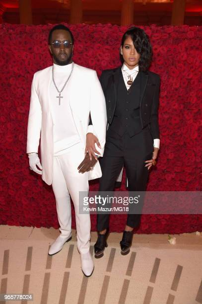 Sean Combs and Cassie attend the Heavenly Bodies Fashion The Catholic Imagination Costume Institute Gala at The Metropolitan Museum of Art on May 7...