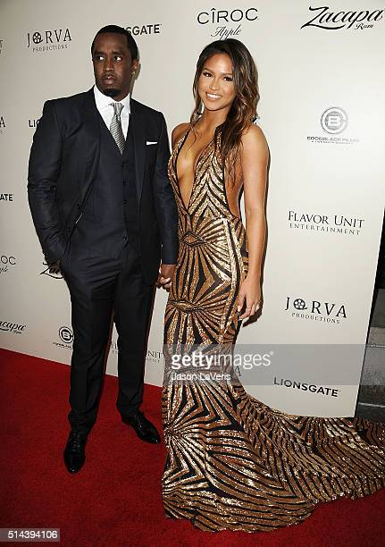 Sean Combs and Cassie Ventura attend the premiere of The Perfect Match at ArcLight Hollywood on March 7 2016 in Hollywood California