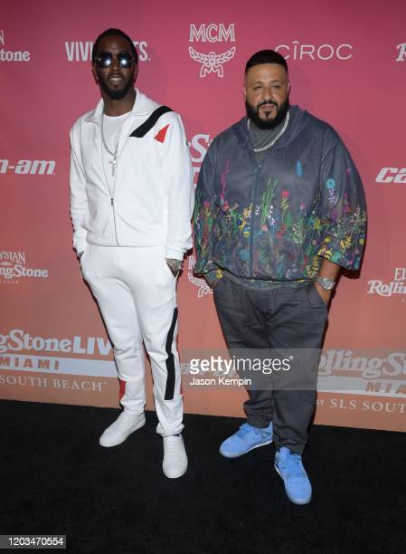 Sean Combs and DJ Khaled attend Rolling Stone Live Miami at SLS South Beach on February 01 2020 in Miami Florida