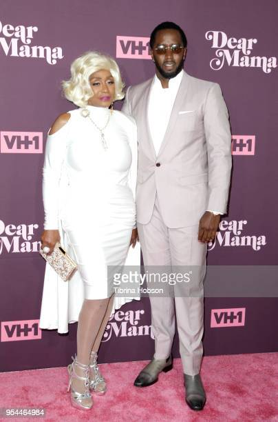 Sean Combs and his mother attend VH1's 3rd annual 'Dear Mama: A Love Letter To Moms' screening at The Theatre at Ace Hotel on May 3, 2018 in Los...
