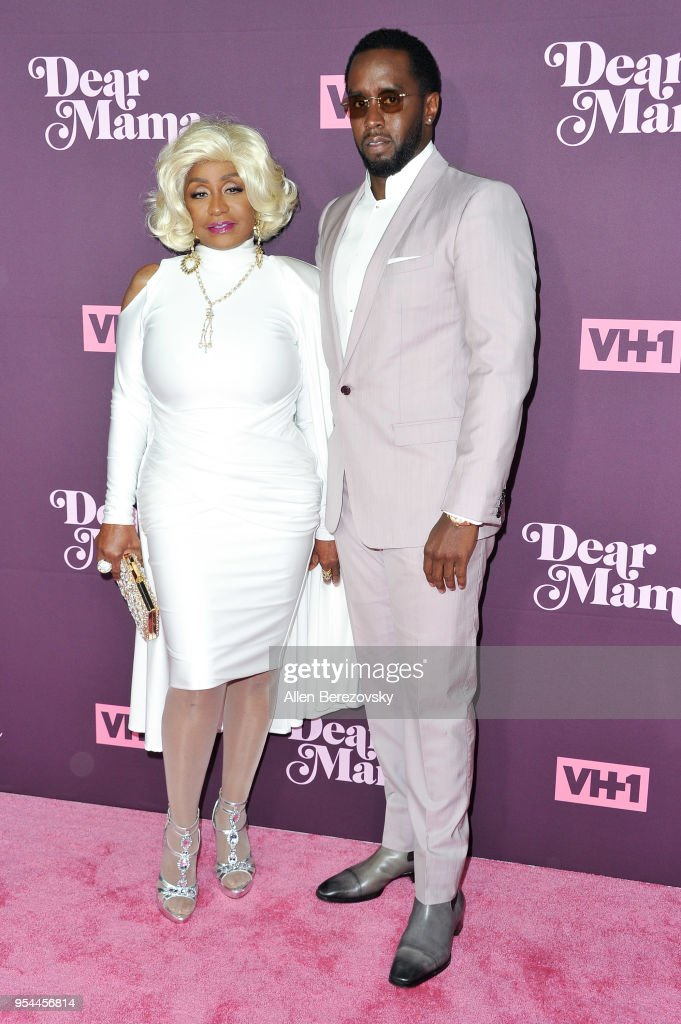 Sean Combs and Janice Combs attend VH1's 3rd Annual 'Dear Mama: A Love Letter To Moms' at The Theatre at Ace Hotel on May 3, 2018 in Los Angeles, California.