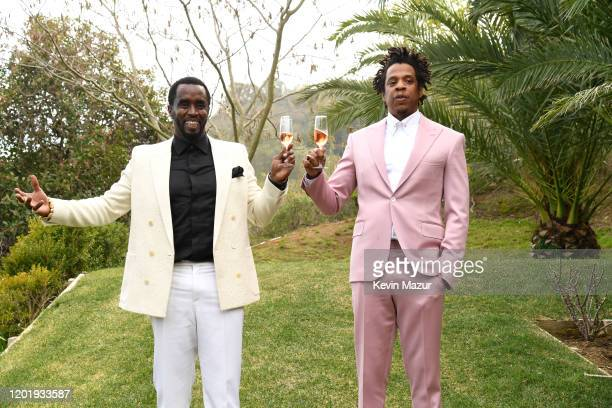 Sean Combs and JayZ attend 2020 Roc Nation THE BRUNCH on January 25 2020 in Los Angeles California