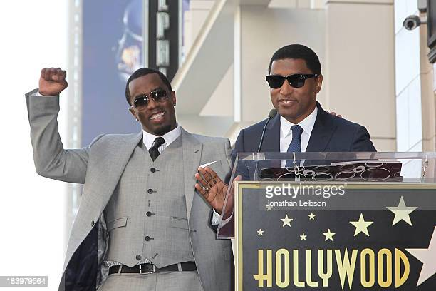 Sean Combs and Kenny Babyface Edmonds attend the ceremony honoring Kenny 'Babyface' Edmonds with a Star on The Hollywood Walk of Fame on October 10...