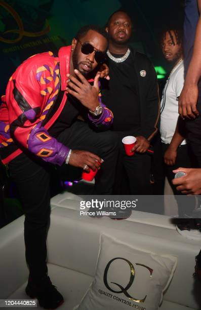 Sean Combs and Pierre Pee Thomas attend the Million Dollar Bowl at The Dome Miami on February 3 2020 in Miami Florida